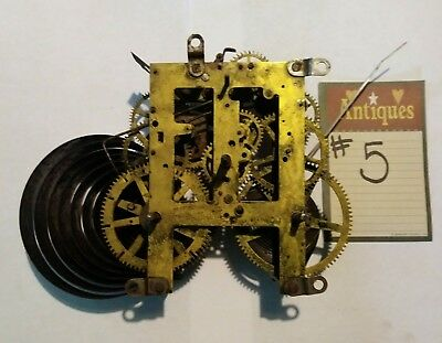Antique Sessions Clock Movement For Parts Or Repair