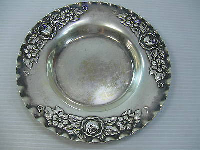 A Small Vintage Silver 800 Beautifully Decorated Plate (Not Silver Plate)