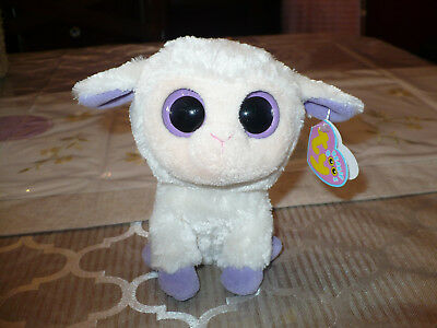 """TY Beanie Boo 6""""  Clover the Lamb Sheep Retired 2010 NWMT"""