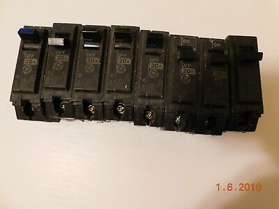 8 NOS GE GENERAL ELECTRIC THQL1120 CIRCUIT BREAKER 1 POLE  20 AMP 120v