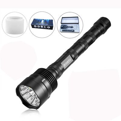 Super Bright LED Flashlight,12000 Lumen with Camping Cap Diffuser,5 Light Modes