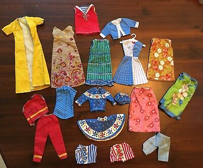Lot Of Vintage Cut And Sew Barbie Clothes