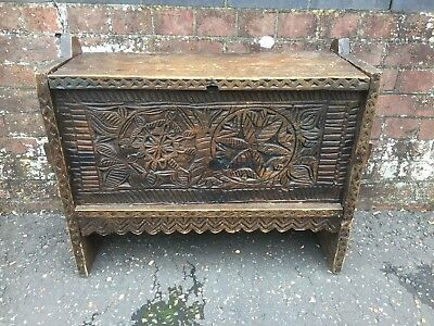 Old Oak Carved Coffer