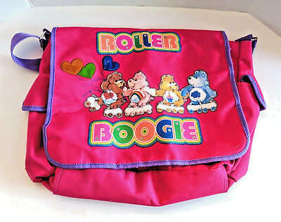 Care Bears Roller Boogie Messenger Bag Pink Purple School Bag Rare