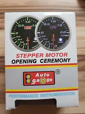 Ladedruckanzeige Auto Gauge Series Stepper Motor Neu 52 mm Boost Gauge Blue LED