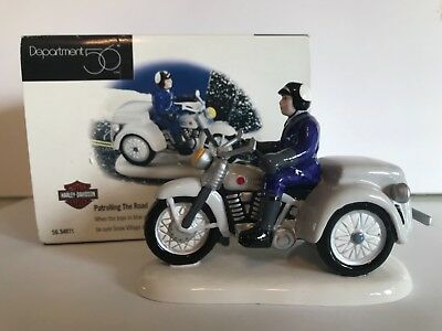 Dept 56 Snow Village Patrolling the Road Accessory 56.54971.