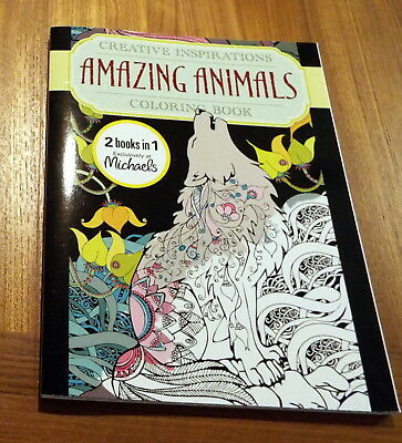 Creative Inspirations Amazing Animals 2 In 1 Adult Coloring Book