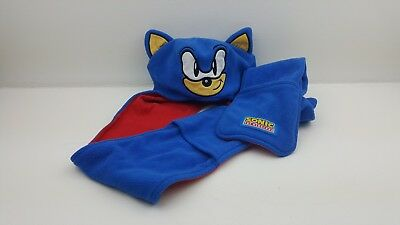 Sonic The Headgehog Hat Scarf mits. SEGA child's hat age 1-3. GEORGE WINTER