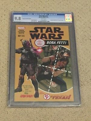 Star Wars 1 CGC 9.8 White Pages Boba Fett- Amazing Spider-Man 129 Cover Swipe