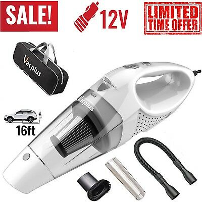 Car Vacuum Cleaner For Auto Held Wet Dry Small Portable Mini Hand 12V