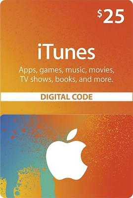 Apple iTunes Gift Card NORTH AMERICA 25 USD