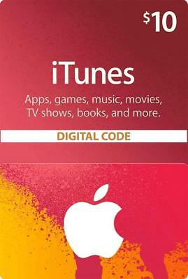 Apple iTunes Gift Card NORTH AMERICA 10 USD