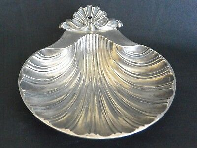 Silver Plated Footed Shell Dish, Sheffield Reproduction