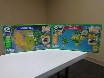 Lot of leap frog developmental learning toys baby toddler lot of 2 leap frog tag interactive maps niob world map euc united states gumiabroncs Choice Image