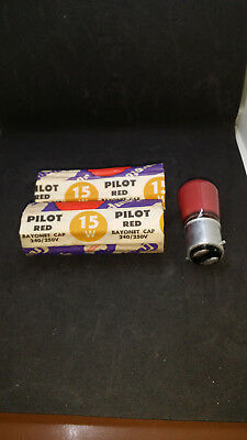 Batch Of 4 (Four ) Crompton Red Pilot Lamps - 240V 15 Watt