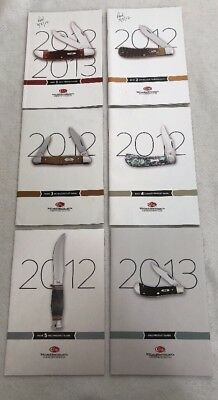 Lot of 6 WR Case & Sons 2012-2013 Knife Product Catalog Guide Case XX Books 1-5