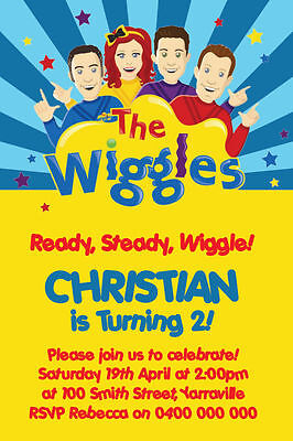 Personalised The Wiggles Birthday Party Invitation Invites You