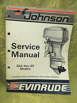 1987 Johnson Seahorse Evinrude Service Repair Manual 35 40 45 48 50 55 hp