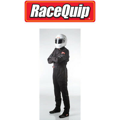 Racequip 110005 Black Large Driving Suit One Layer 1 Piece 110 Series Racing