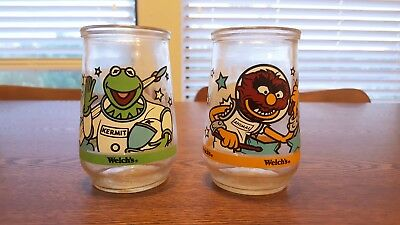 Muppets in Space Welch's Jelly Jars (Set of 2, Kermit [#1] and Animal [#6])