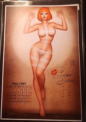 Nathan Szerdy Signed 12X18 Signed Art Print Fifth Element Leeloo Pin Up Calendar