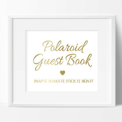 Polaroid Guest Book Sign, Wedding, Birthday, Engagement, Sign ONLY, Not a book.