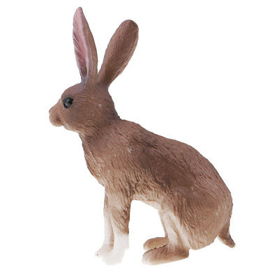 Hare Rabbit Model Animal Figurine Toy Kids Educational Toy Birthday Gift 03