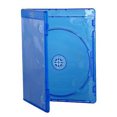 10mm Blu Ray Logo Plastic Blue Case DVD CD One Media Disc Storage Sleeve Cover