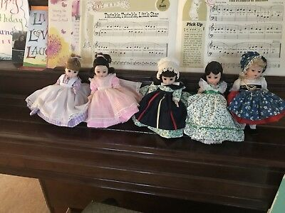 Authentic Madame Alexander dolls vintage (Lot 5) Good Condition With Boxes