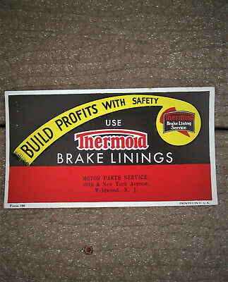 c.1940 Thermoid Brake Blotter MOTOR PARTS SERVICE, 26th & NY Ave, WILDWOOD NJ