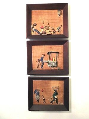 The Scull Sister | Haydee Scull (1931-2007)Set of Three 3-D Cuban Paintings