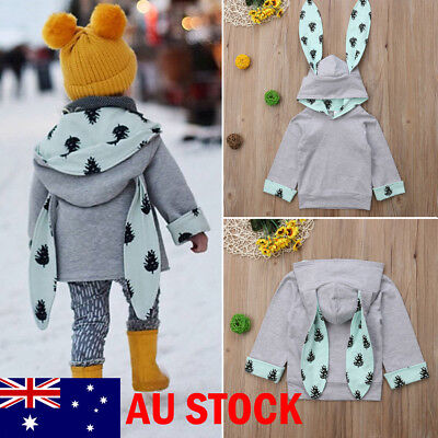 AU Winter Snowsuit Baby Boy Girl Hoodie Snowsuit Outwear Coat Kid Jacket Clothes