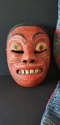 Old Balinese Carved Wooden Dance Mask …beautiful collection / display piece
