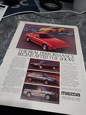 lot 9 ads rx7 mazda rotary photo poster rx 7