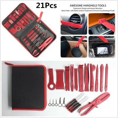 Durable 21Pcs Auto Molding Upholstery Fastener Trim And Panel Removal Tools Kit
