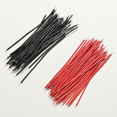 400Pcs Black Red Kit Motherboard Breadboard Jumper Cable Wires Set Tinned 5cm_UK