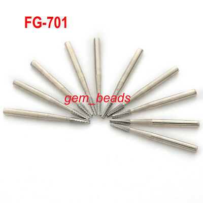 1 kit 10pcs Dental Tungsten Steel Carbide Burs For High Speed Handpiece FG-701