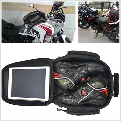 1X Motorcycle Magnetic Oil Fuel Tank Bags Riding Travel Luggage Handbag Tail Bag