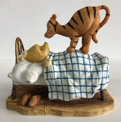 Border Fine Arts Classic Winnie the Pooh Tigger Jumping on Bed Figurine