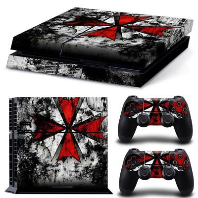 Vinyl Sticker Pattern Decals for PS4 Console & Controller Skin Cross