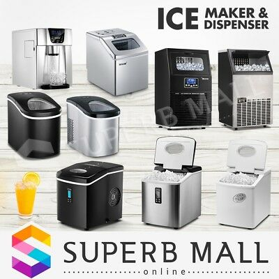 Commercial Ice Maker/Water Dispenser Machine Portable Automatic Fast Cube Home