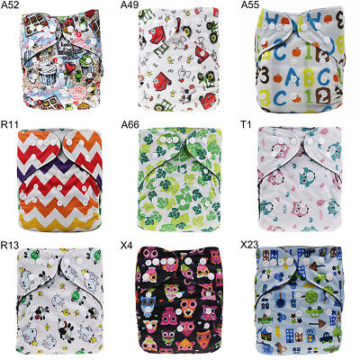 Washable Baby Pocket Nappy Cloth Reusable Diaper Bamboo Charcoal Cover Wrap Nice