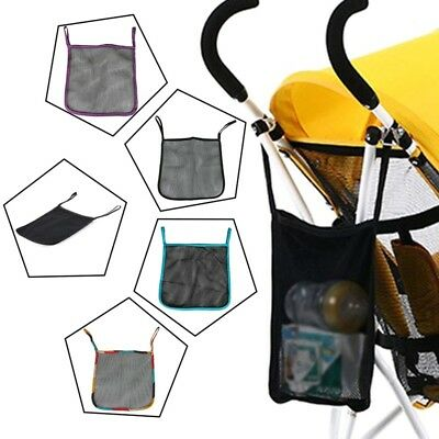 Infant Baby Stroller Storage Mesh Bag Hanging Organizer Diaper Pram Storage Net