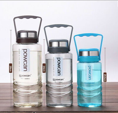 Portable Infusing Water Drinking Gym Bottle BPA Free With Carry Handle 2/1.5/1L