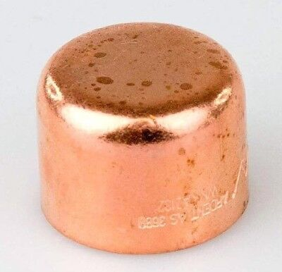 8x Ardent HIGH PRESSURE COPPER CAP - 15mm Or 25mm