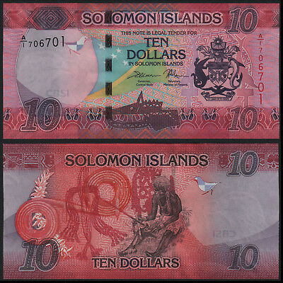 Solomon Islands 10 Dollars (P New) 2017 Unc