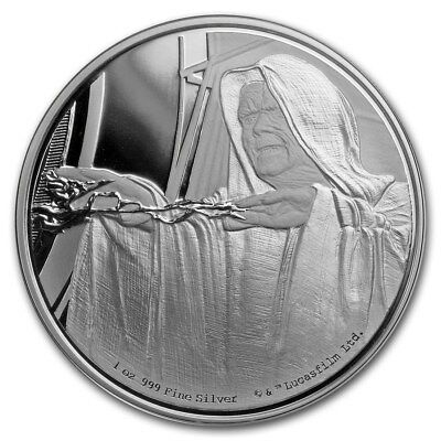 Niue -2018- Silver $2 Proof Coin- 1 OZ  Star Wars Classic – Emperor Palpatine