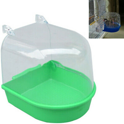 Bird Water Bath Tub For Pet Bird Cage Hanging Bowl Parrots Parakeet Birdbath New
