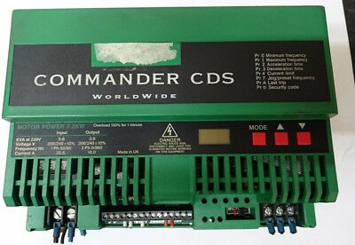 CONTROL TECHNIQUES COMMANDER CDS 2.2kW 1phase to 3 phase INVERTER VFD