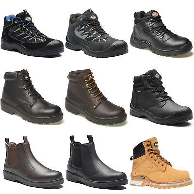Dickies Safety Work Boots Shoes Hiker (Various Sizes) Men's Black Brown Tan Grey